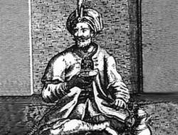 sultão em Meca bebendo café